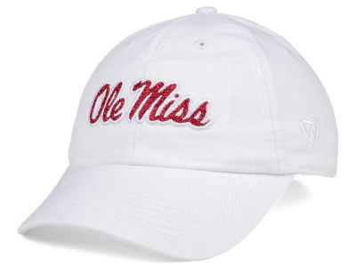 Ole Miss Rebels Top of the World Women's White Glimmer Cap