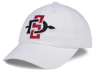 San Diego State Aztecs Top of the World Women's White Glimmer Cap