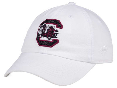South Carolina Gamecocks Top of the World Women's White Glimmer Cap