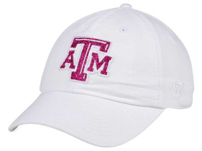 Texas A&M Aggies Top of the World Women's White Glimmer Cap