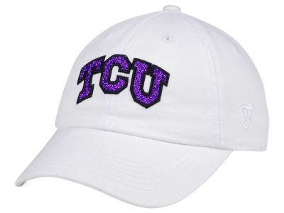 new style 1238c becc3 ... italy canada texas christian horned frogs top of the world womens white  glimmer cap 0b87b 5fb55