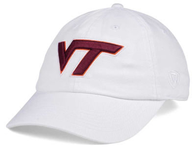 Virginia Tech Hokies Top of the World Women's White Glimmer Cap