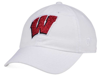 Wisconsin Badgers Top of the World Women's White Glimmer Cap