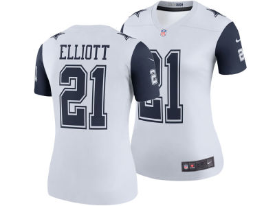 Dallas Cowboys Ezekiel Elliott Nike NFL Women's Color Rush Legend Jersey