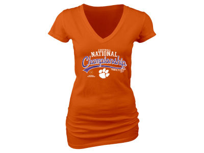 Clemson Tigers NCAA Women's College Football Playoff Glitter T-Shirt
