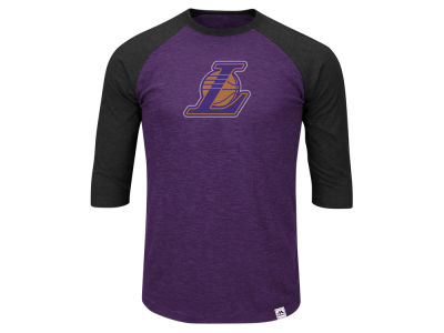Los Angeles Lakers NBA Men's Excellent Attidue Raglan T-Shirt