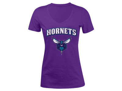 Charlotte Hornets 5th & Ocean NBA Women's Mesh Logo T-Shirt