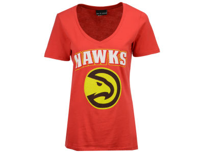 Atlanta Hawks 5th & Ocean NBA Women's Mesh Logo T-Shirt