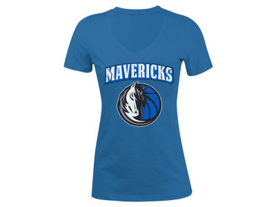 Dallas Mavericks 5th & Ocean NBA Women's Mesh Logo T-Shirt