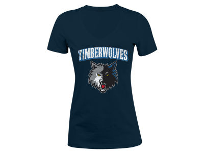 Minnesota Timberwolves 5th & Ocean NBA Women's Mesh Logo T-Shirt