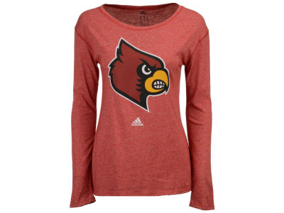 Louisville Cardinals adidas NCAA Women's Distressed Logo Long Sleeve