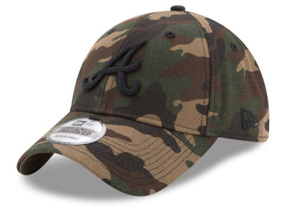 Atlanta Braves New Era MLB Camo on Canvas 9TWENTY Strapback Cap