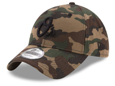 Baltimore Orioles New Era MLB Camo on Canvas 9TWENTY Strapback Cap