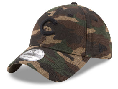 Chicago Cubs New Era MLB Camo on Canvas 9TWENTY Strapback Cap