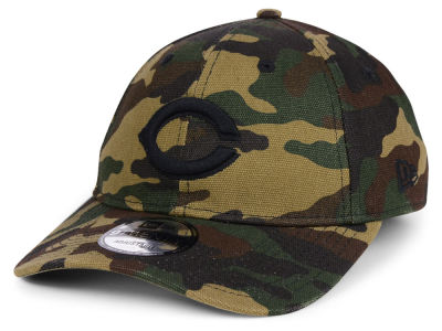 Cincinnati Reds New Era MLB Camo on Canvas 9TWENTY Strapback Cap