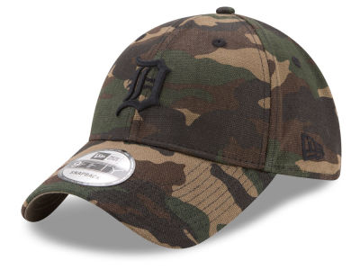 Detroit Tigers New Era MLB Camo on Canvas 9TWENTY Strapback Cap