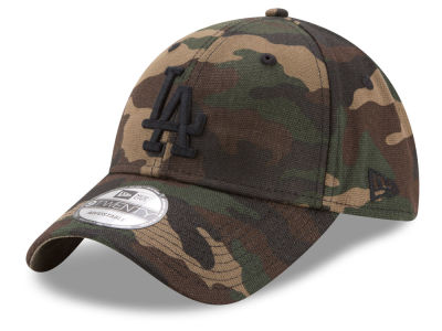 Los Angeles Dodgers New Era MLB Camo on Canvas 9TWENTY Strapback Cap