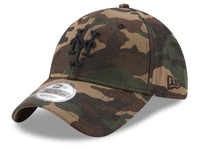 New York Mets New Era MLB Camo on Canvas 9TWENTY Strapback Cap