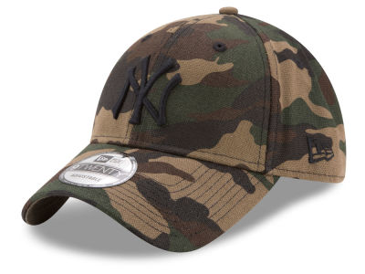 New York Yankees New Era MLB Camo on Canvas 9TWENTY Strapback Cap