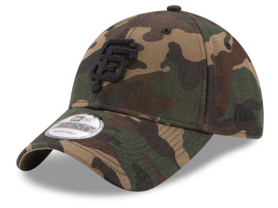 San Francisco Giants New Era MLB Camo on Canvas 9TWENTY Strapback Cap