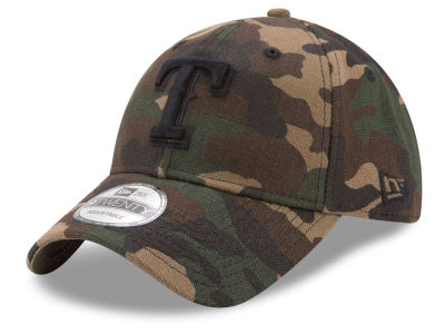 Texas Rangers New Era MLB Camo on Canvas 9TWENTY Strapback Cap