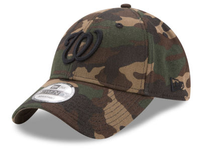 Washington Nationals New Era MLB Camo on Canvas 9TWENTY Strapback Cap