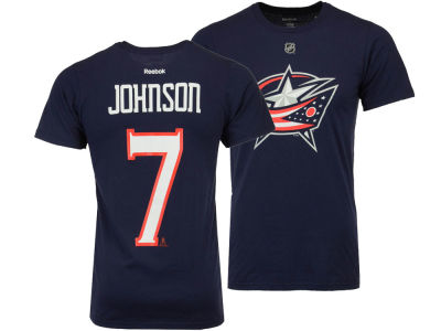 Columbus Blue Jackets Jack Johnson Reebok NHL Men's Player T-Shirt