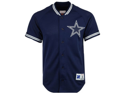 Dallas Cowboys Mitchell & Ness NFL Men's Seasoned Pro Mesh Button Front 2.0 Jersey