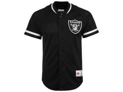 Oakland Raiders Mitchell & Ness NFL Men's Seasoned Pro Mesh Button Front 2.0 Jersey