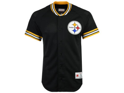 Pittsburgh Steelers Mitchell & Ness NFL Men's Seasoned Pro Mesh Button Front 2.0 Jersey
