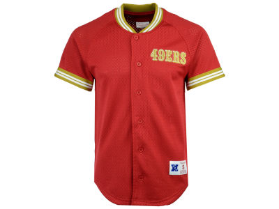 San Francisco 49ers Mitchell & Ness NFL Men's Seasoned Pro Mesh Button Front 2.0 Jersey