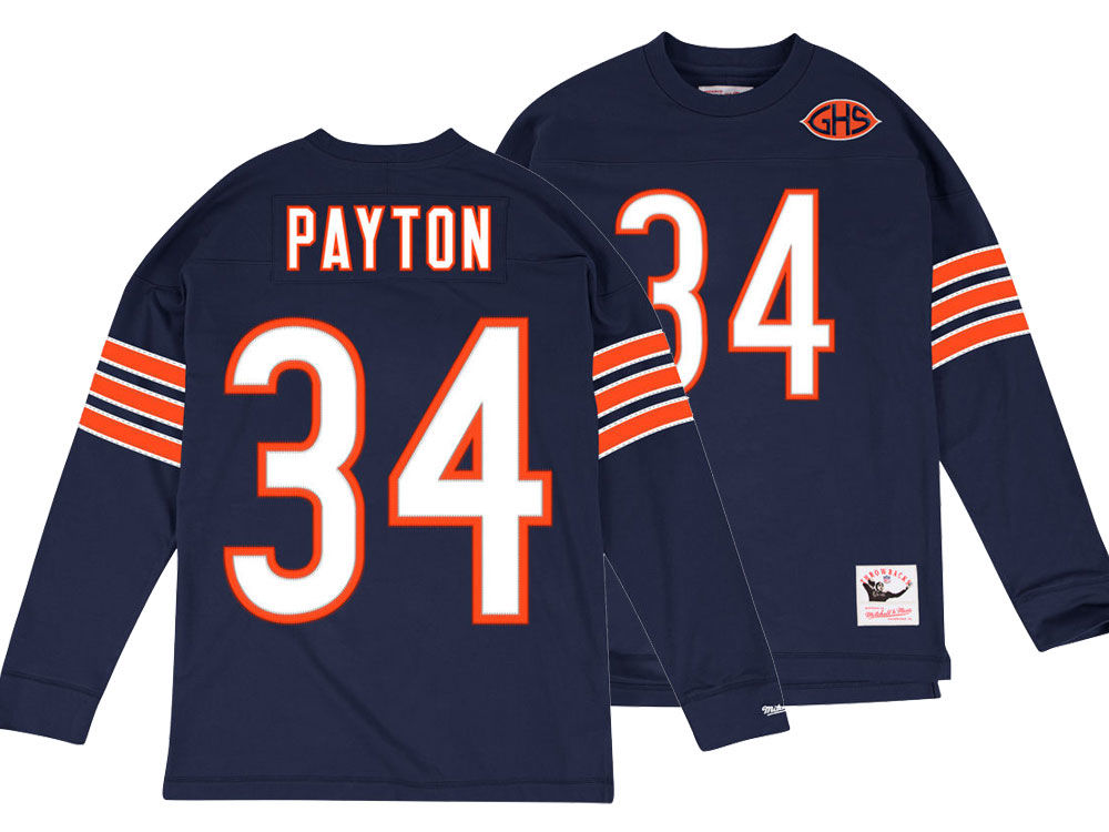 74299d647 Chicago Bears Walter Payton Mitchell   Ness NFL Men s Retro Player Long  Sleeve T-shirt