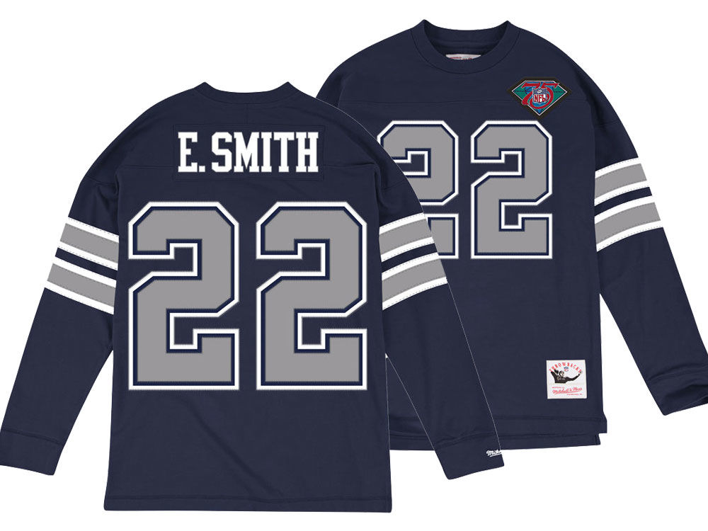f1f349ee8 Dallas Cowboys Emmitt Smith Mitchell   Ness NFL Men s Retro Player Long  Sleeve T-shirt