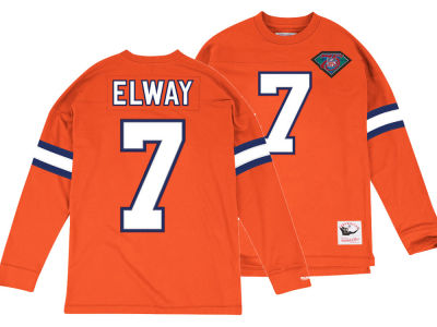 Denver Broncos John Elway Mitchell & Ness NFL Men's Retro Player Long Sleeve T-shirt