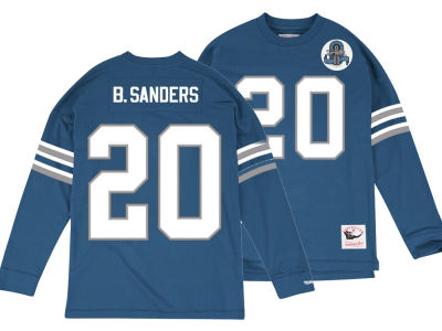 Detroit Lions Barry Sanders Mitchell & Ness NFL Men's Retro Player Long Sleeve T-shirt