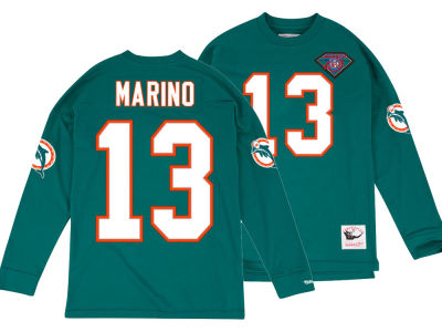 Miami Dolphins Dan Marino Mitchell & Ness NFL Men's Retro Player Long Sleeve T-shirt