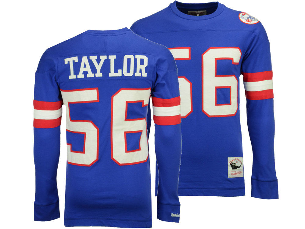 New York Giants Lawrence Taylor Mitchell   Ness NFL Men s Retro Player Long  Sleeve T-shirt  053146322
