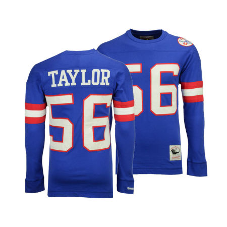New York Giants Lawrence Taylor Mitchell & Ness NFL Men's Retro Player Long Sleeve T-shirt