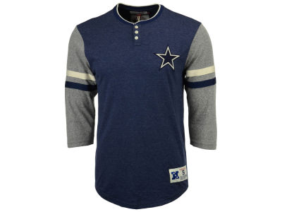 Dallas Cowboys Mitchell & Ness NFL Men's Home Stretch Henley Longsleeve T-Shirt