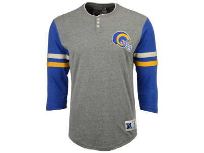 Los Angeles Rams Mitchell & Ness NFL Men's Home Stretch Henley Longsleeve T-Shirt