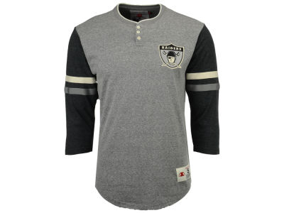 Oakland Raiders Mitchell & Ness NFL Men's Home Stretch Henley Longsleeve T-Shirt