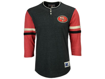 San Francisco 49ers Mitchell & Ness NFL Men's Home Stretch Henley Longsleeve T-Shirt