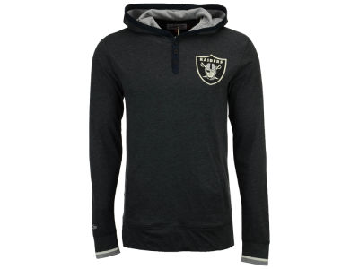 Oakland Raiders Mitchell & Ness NFL Men's Seal The Win Long Sleeve Hoodie