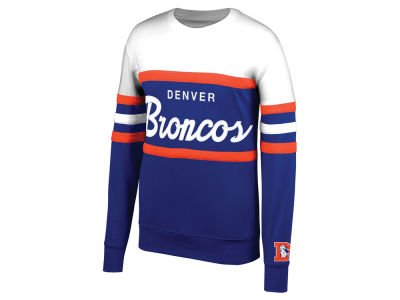 Denver Broncos Mitchell & Ness NFL Men's Head Coach Crew Sweatshirt