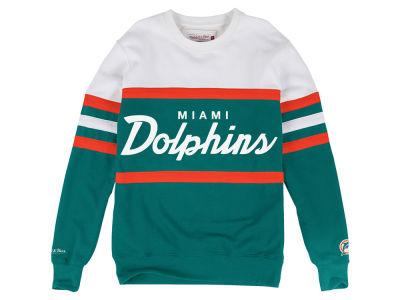 Miami Dolphins Mitchell & Ness NFL Men's Head Coach Crew Sweatshirt