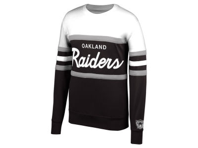 Oakland Raiders Mitchell & Ness NFL Men's Head Coach Crew Sweatshirt
