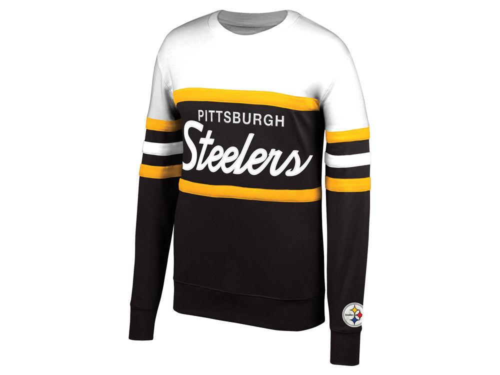 Pittsburgh Steelers Mitchell   Ness NFL Men s Head Coach Crew Sweatshirt  f1c0b98ce