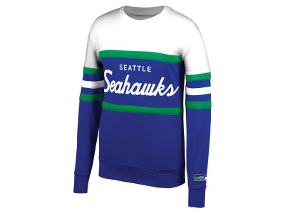 Seattle Seahawks Mitchell & Ness NFL Men's Head Coach Crew Sweatshirt