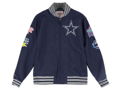 Dallas Cowboys Mitchell & Ness Men's Team History Warm Up Jacket