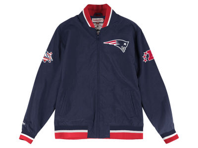 New England Patriots Mitchell & Ness Men's Team History Warm Up Jacket